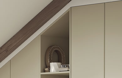 Integrity bedrooms Elite fitted bedroom close up cornice