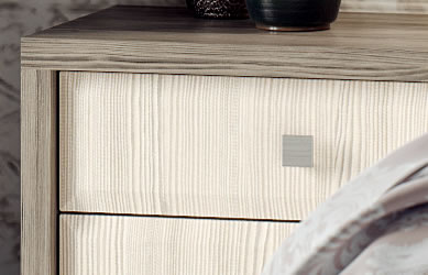 Integrity bedrooms Peace fitted bedroom close up bedside cabinet