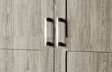 Integrity bedrooms Phoenix fitted bedroom close up wardrobe detail handles