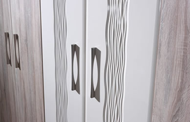 Integrity bedrooms Serenity fitted bedroom close up handles