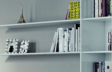 White bedroom furniture with white bookcase